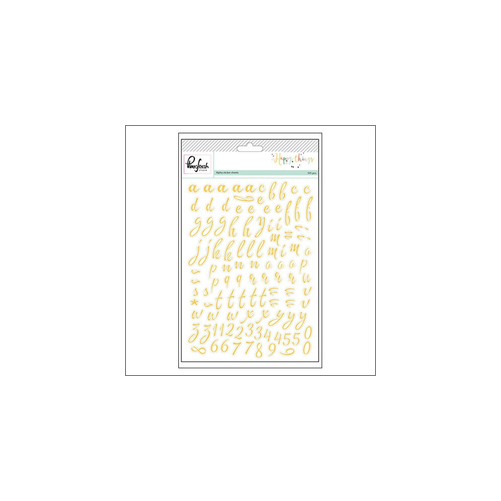 Pinkfresh Studio Alphabet Sticker Sheets Happy Things Collection
