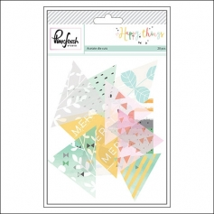 Pinkfresh Studio Acetate Triangle Die Cuts Happy Things Collection