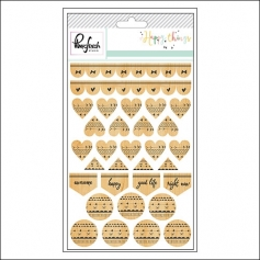 Pinkfresh Studio Wood Veneer Stickers Happy Things Collection