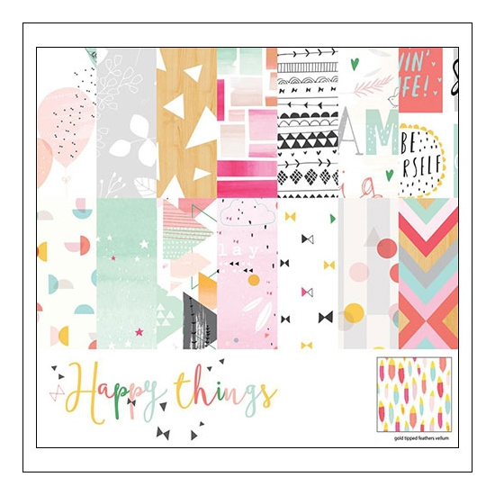 Pinkfresh Studio Paper Pack 6x6 inches Happy Things Collection