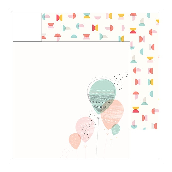 Pinkfresh Studio Paper Sheet Balloon and Semi Circle Happy Things Collection