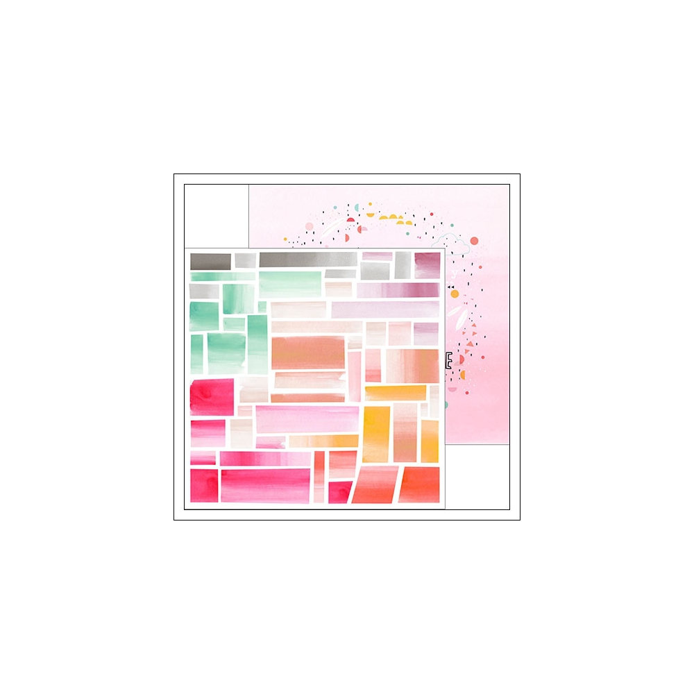 Pinkfresh Studio Paper Sheet Ombre Mosaic and Confetti Circle Happy Things Collection