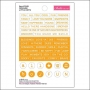 Bella Blvd Little Bits Cardstock Stickers Orange Just Add Color Collection