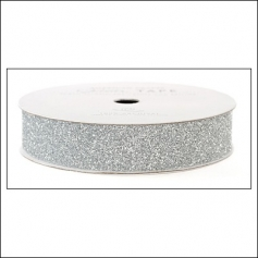 American Crafts Glitter Tape Silver 5/8""