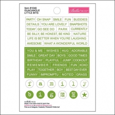 Bella Blvd Little Bits Cardstock Stickers Guacamole Just Add Color Collection