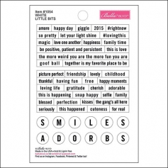 Bella Blvd Little Bits Cardstock Stickers White Just Add Color Collection