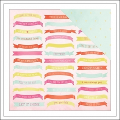 American Crafts Paper Sheet Celebrate Fine and Dandy Collection by Dear Lizzy