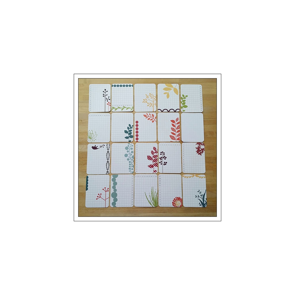 American Crafts Project Life 3x4 inches Grid Journaling Cards