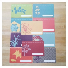 American Crafts Project Life 4x6 inches Decorative Journaling Cards Months