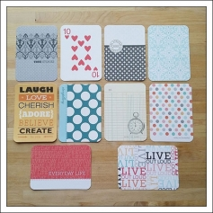 American Crafts Project Life 3x4 inches Decorative Journaling Cards Clementine Edition