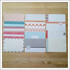 American Crafts Project Life 4x6 inches Decorative Journaling Cards and Bi-Fold Cards Clementine Edition