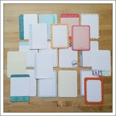 American Crafts Project Life 3x4 inches Journaling Cards Clementine Edition