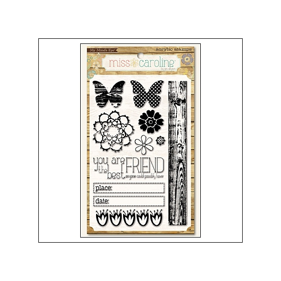 My Minds Eye Clear Stamps Dolled Up Favorite Miss Caroline Collection by Jen Allyson