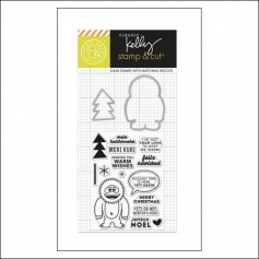 Hero Arts Kellys Yeti Stamp and Cut Clearly Kelly Collection by Kelly Purkey