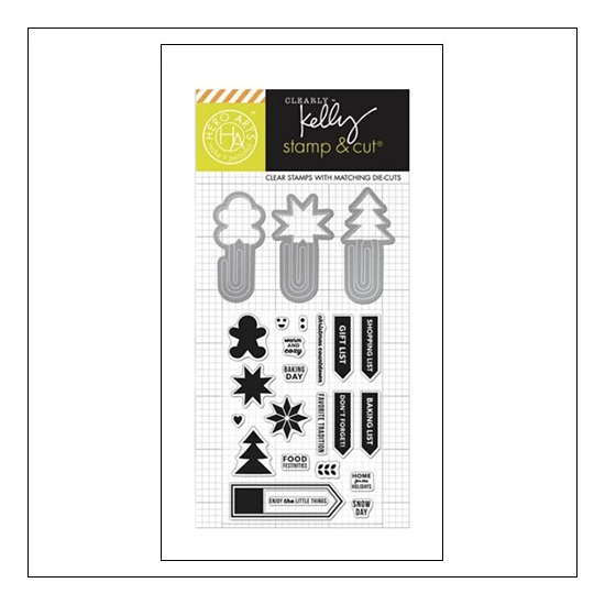 Hero Arts Kellys Holdiday Clips Stamp and Cut Clearly Kelly Collection by Kelly Purkey