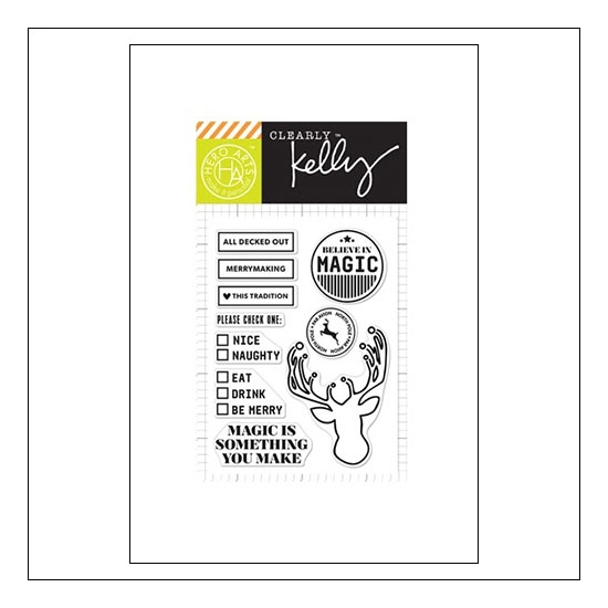 Hero Arts Kellys All Decked Out Clear Stamps Clearly Kelly Collection by Kelly Purkey