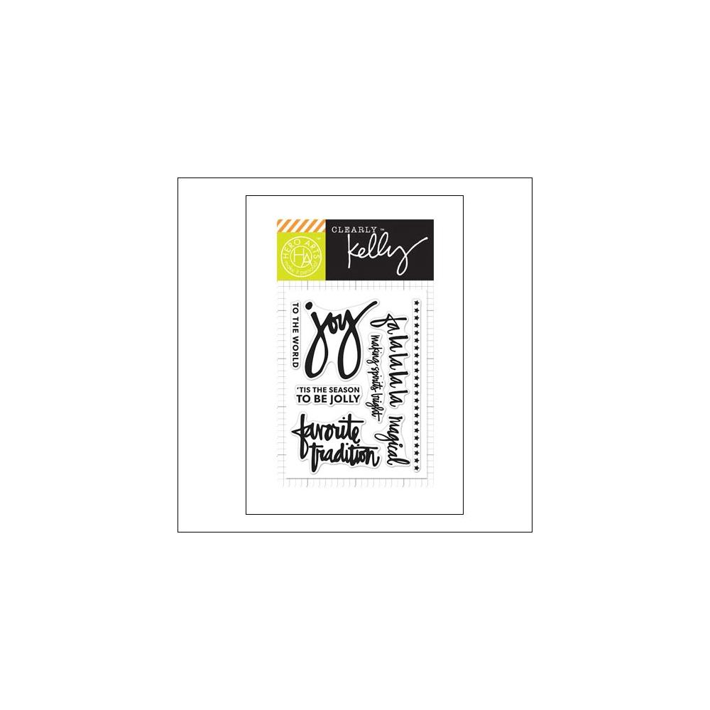 Hero Arts Kellys Fa La La La La Clear Stamps Clearly Kelly Collection by Kelly Purkey