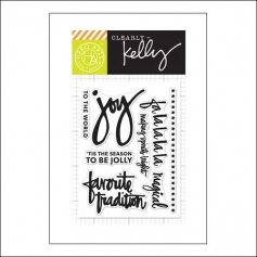 Hero Arts Kellys Fa La La La La Clear Stamps Clearly Kelly Collection by Kelly Purkey