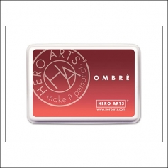 Hero Arts Ombre Ink Pad Light Ruby to Royal Red