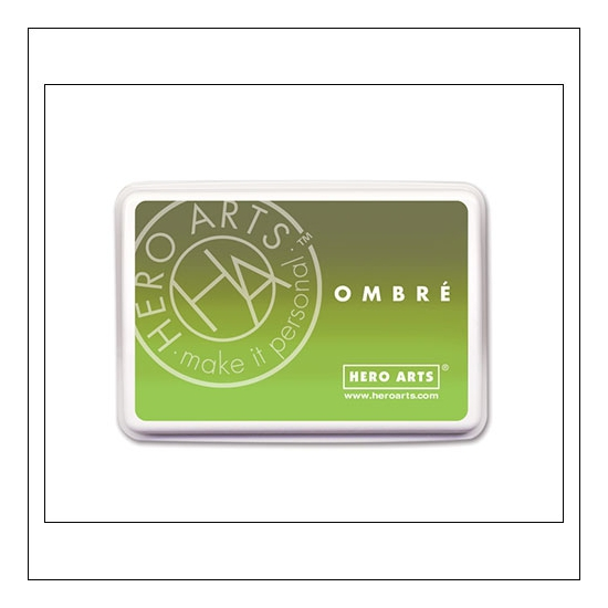 Hero Arts Ombre Ink Pad Lime to Forever Green