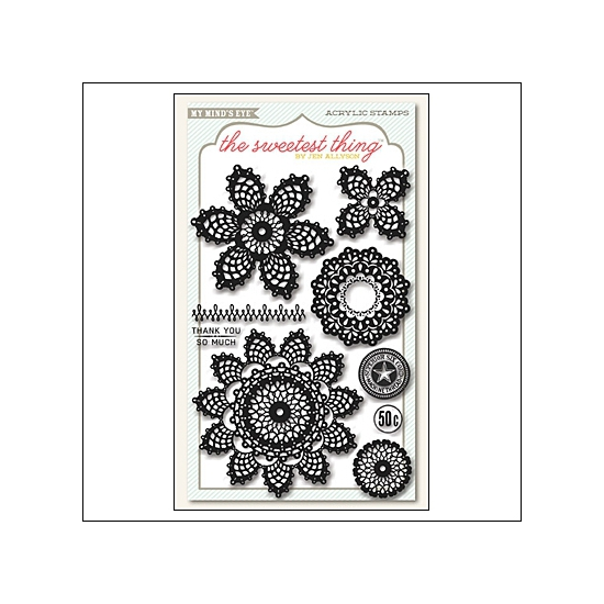 My Minds Eye Clear Stamps Lavender Cutie Pie The Sweetest Thing Collection