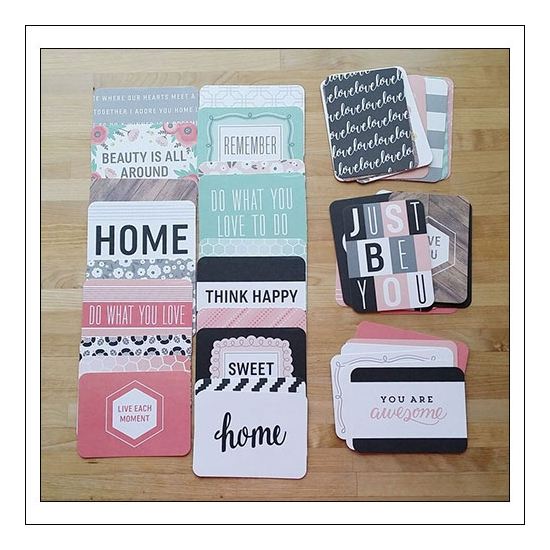 American Crafts Project Life 3x4 inches Core Kit Cards Set Cottage Living Edition Collection by Jen Hadfield