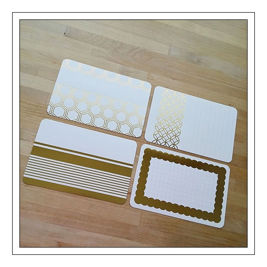 American Crafts Project Life 4x6 inches Core Kit Cards Set Gold Foil Cottage Living Edition Collection by Jen Hadfield