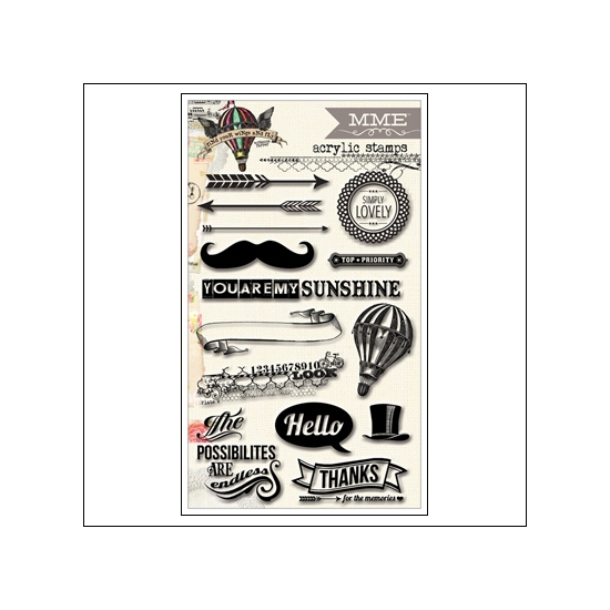 My Minds Eye Clear Stamps Up and Away Find Your Wings and Fly Collection by Rhonna Farrer