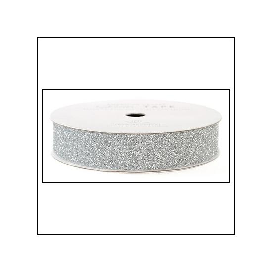 "American Crafts Glitter Tape Silver 7/8"""