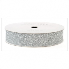 American Crafts Glitter Tape Silver 7/8""