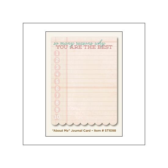 My Minds Eye Journal Card...