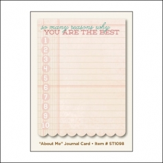 My Minds Eye Journal Card Lavender About Me The Sweetest Thing Collection by Jen Allyson