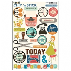 October Afternoon Chip n Stick 9 to 5 Collection