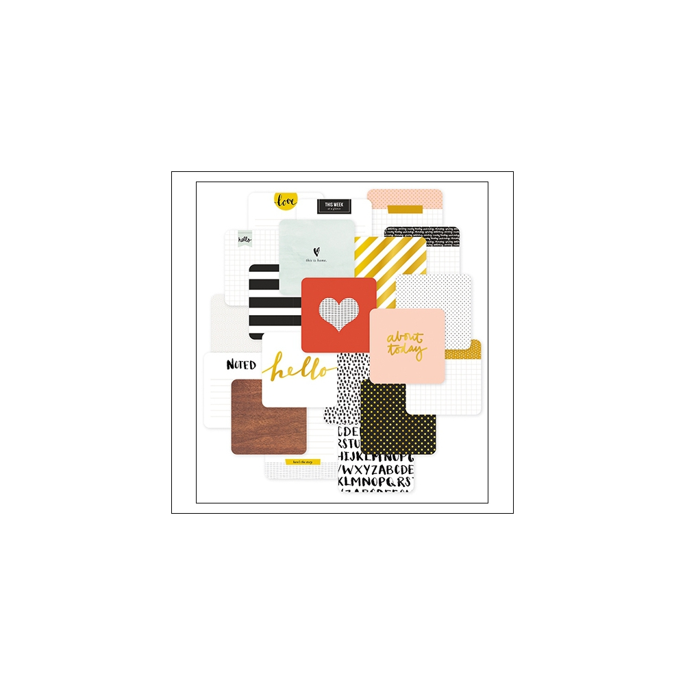 American Crafts Project Life 4x4 inches Cards Everyday Collection by Liz Tamanaha