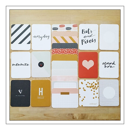 American Crafts Project Life 3x4 inches Core Kit Cards Set Everyday Edition Collection by Liz Tamanaha