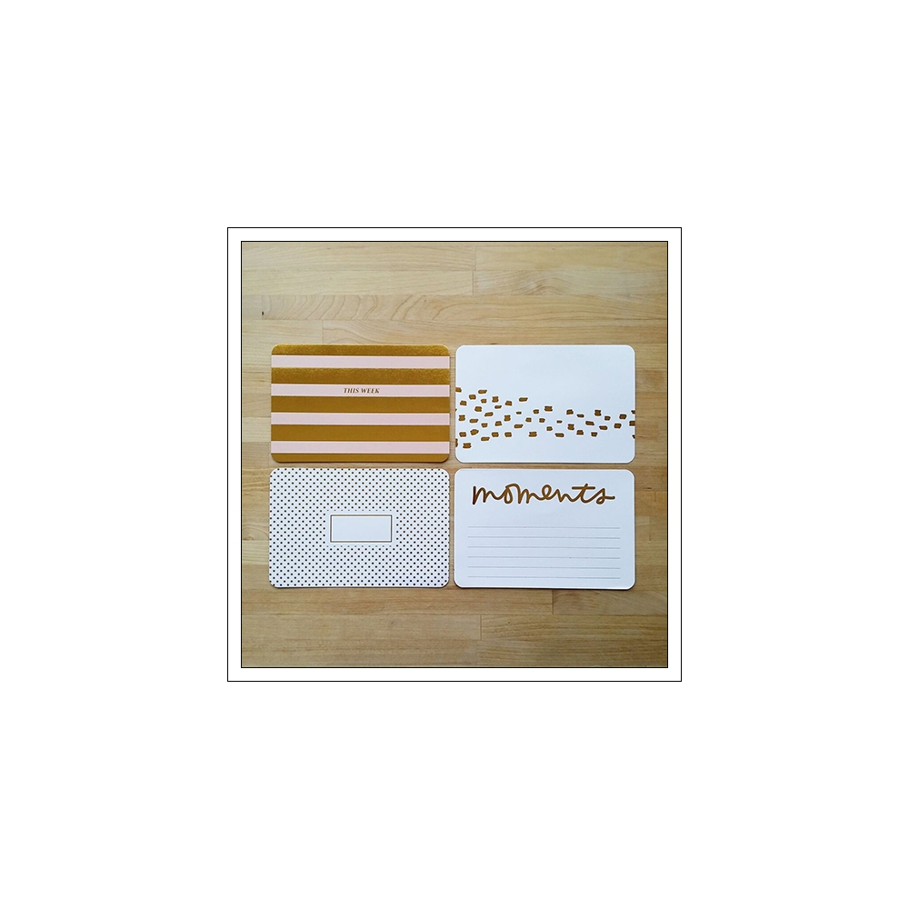 American Crafts Project Life 4x6 inches Core Kit Cards Set Gold Foil Everday Edition Collection by Liz Tamanaha