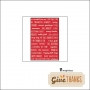 Imaginisce Phrase Sticker Sheet Red Give Thanks Collection