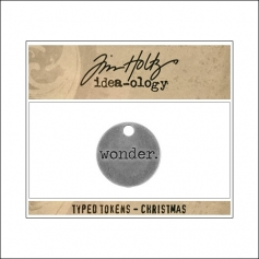 Idea-ology Typed Token Christmas Wonder by Tim Holtz