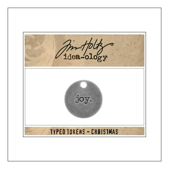 Idea-ology Typed Token Christmas Joy by Tim Holtz