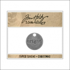 Idea-ology Typed Token Christmas Bright by Tim Holtz