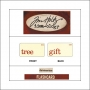 Idea-ology Mini Flash Card Christmastime Red Text Tree and Gift by Tim Holtz