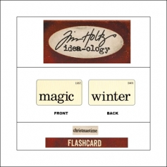 Idea-ology Mini Flash Card Christmastime Black Text Magic and Winter by Tim Holtz