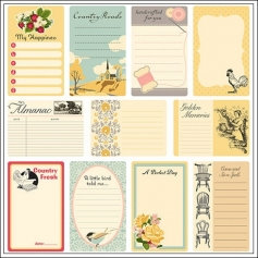 October Afternoon Journaling Cards Farmhouse Collection