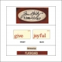 Idea-ology Mini Flash Card Christmastime Red Text Give and Joyful by Tim Holtz