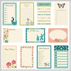 October Afternoon Journaling Cards Woodland Park Collection