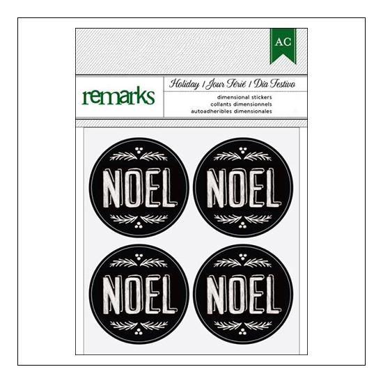 American Crafts Remarks Envelope Seal Stickers Chalkboard Noel Holiday