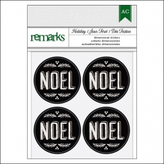 American Crafts Remarks Envelope Seal Stickers Chalkboard Noel Holiday