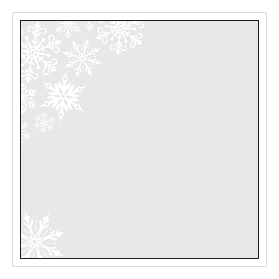 Pink Paislee Specialty Paper Sheet Acetate White Glitter Foil Snowflakes Yuletide Collection
