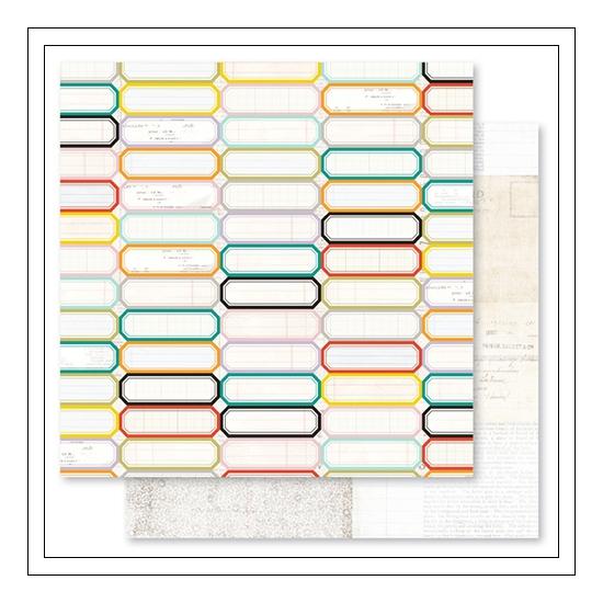 Pink Paislee Paper Sheet Labels Memorandum Collection
