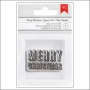 American Crafts Clear Acrylic Stamp Block Merry Christmas Deck The Halls Collection